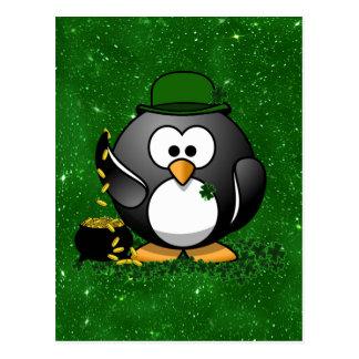 St. Patrick de Gelukkige Pinguïn van de Dag met Briefkaart