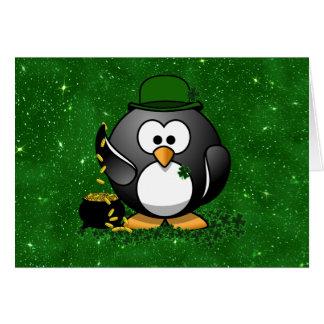 St. Patrick de Gelukkige Pinguïn van de Dag met Kaart