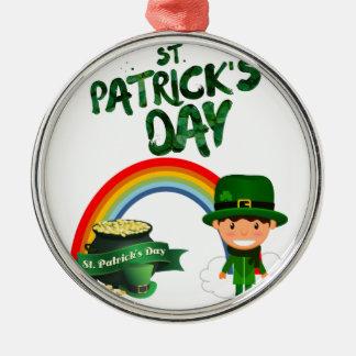 St Patrick de giften van de Dag Zilverkleurig Rond Ornament