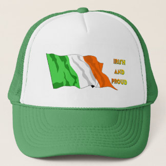 St Patrick de Ierse Vlag van de Dag Trucker Pet