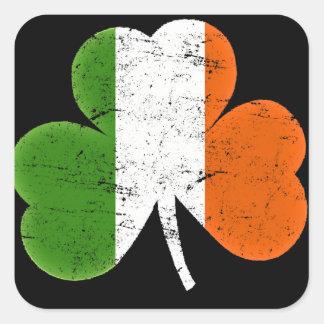 St Patrick de Klaver van de Vlag van de Dag Vierkante Sticker