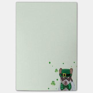 St. Patrick de post-itnota's van Chihuahua van de Post-it® Notes