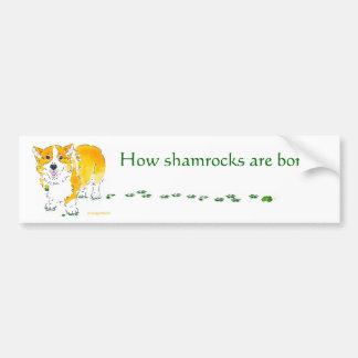 St Patrick de Sticker van de Bumper van Corgi van