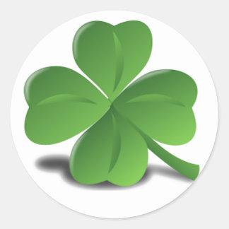 St. Patrick de Sticker van de Klaver van de Klaver