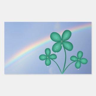 St Patrick de Stickers van de Klaver en van de