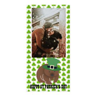St Patrick de Wombat van de Dag Kaart