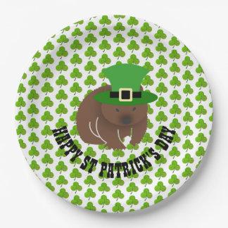 St Patrick de Wombat van de Dag Papieren Bordje