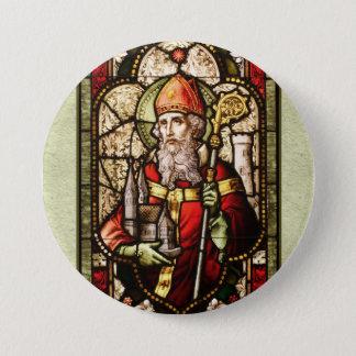 St. Patrick Digital Art Round Button Speld