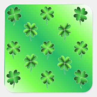 St. Patrick Glanzende Stickers van de Klavers van