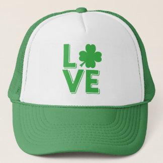 St. Patrick Groene Klaver van de Liefde van de Dag Trucker Pet