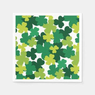 St. Patrick het Patroon van de Klaver van de Dag Wegwerp Servet