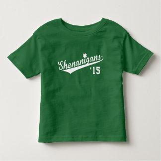 St. Patrick het Team van Shenanigans van de Dag Kinder Shirts