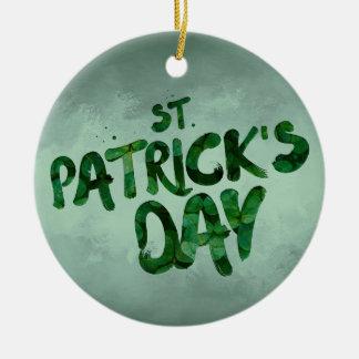 St Patrick Ierse Keltisch van de Klaver van de Dag Rond Keramisch Ornament