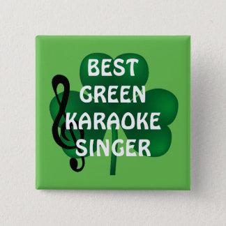 St Patrick Knoop van de Zanger van de Karaoke van Vierkante Button 5,1 Cm