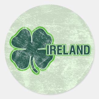 St. Patrick Sticker van Grunge van de Klaver van `