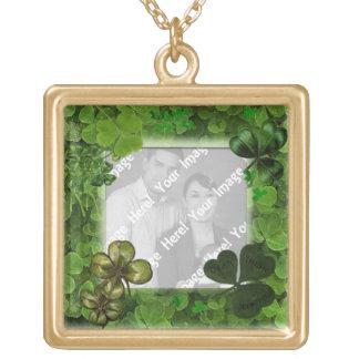 St. Patrick van de foto het Ketting van de Dag Goud Vergulden Ketting