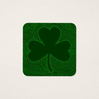 St. Patrick van de klaver Dag Vierkante Visitekaartjes