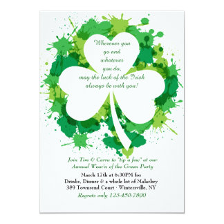 St. Patrick van de Klaver van Grunge de Kaart