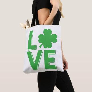 St. Patrick van de liefde de Ierse Leuke Klaver Draagtas