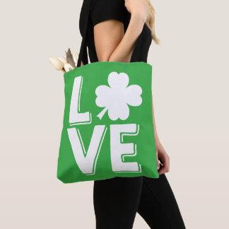 St. Patrick van de liefde de Leuke Groene Klaver Draagtas