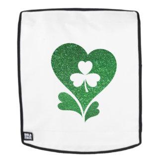 St Patrick van de Liefde van de vlag Dag Rugtassen