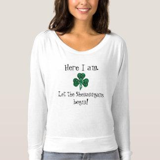 St. Patrick van de pret de Dag liet Shenanigans Longsleeve