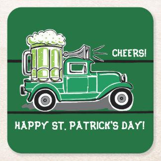 St Patrick Vintage Vrachtwagen van het Bier van de Vierkante Onderzetter