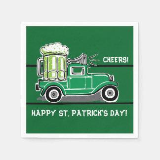 St Patrick Vintage Vrachtwagen van het Bier van de Wegwerp Servetten