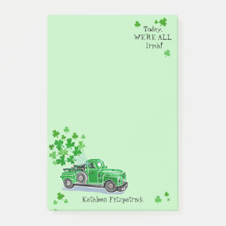 St. Patrick voegt de Groene Vintage Vrachtwagen Post-it® Notes