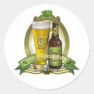 St. Patricks Dag die Team drink Ronde Sticker