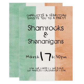 St Patricks de Ierse Waterverf van Shenanigans van Kaart