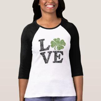 St Patricks de LIEFDE van de Dag met klaver T Shirt
