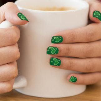 St Patricks de spijkers van de Dag met hart en Minx Nail Art