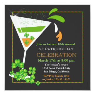 St. Patricks de Uitnodiging van de Cocktail van de