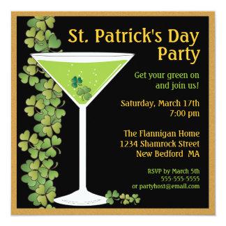 St. Patricks de Uitnodiging van Martini van de