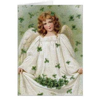 St. Patricks Engel die u goed geluk brengen Briefkaarten 0