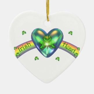 St. Patricks Hart van de Klaver van de Dag het Keramisch Hart Ornament
