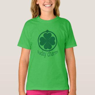 St. Patricks Meisjes van de Klaver van de Charme T Shirt
