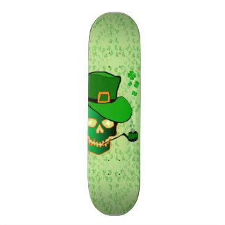 St Patricks schedel 20,0 Cm Skateboard Deck