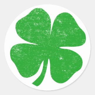 St. Patricks van de Klaver van vier Blad Dag Ronde Stickers