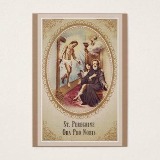 St. Peregrine Patroonheilige van Kanker Jesus Visitekaartjes