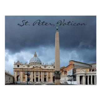St. Peter Basicila, Heilige stad van Vatikaan Briefkaart