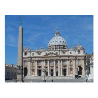 St Peter de Stad van Vatikaan van de Basiliek Briefkaart