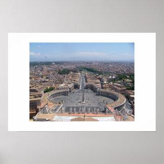 St. Peter uitzicht, Rome Poster
