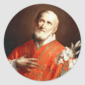 St. Philip Neri Lily Ronde Sticker