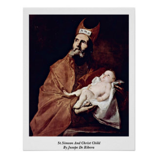 St.Simeon en het Kind van Christus door Jusepe DE Poster