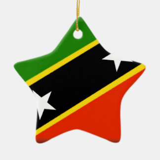 St. St. Kitts.and.Nevis Keramisch Ster Ornament