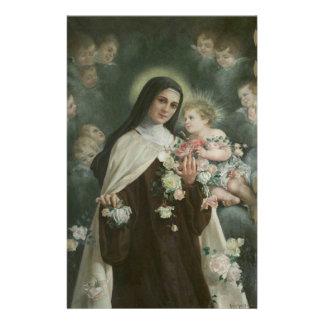 St. Therese de Kleine Engelen van de Rozen van de Briefpapier