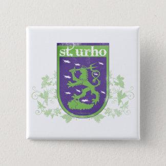 St. Urho Wapenschild - Knoop Vierkante Button 5,1 Cm