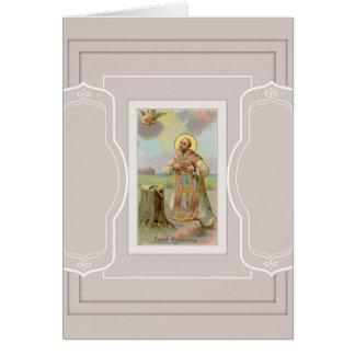 St. Valentijn de Bijl van de Engel van de Bischop Wenskaart